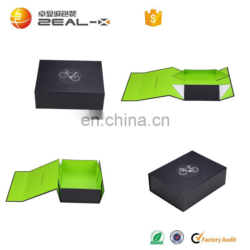 Printed Flat Folding Magnetic Closure Cardboard Gift Packaging Box