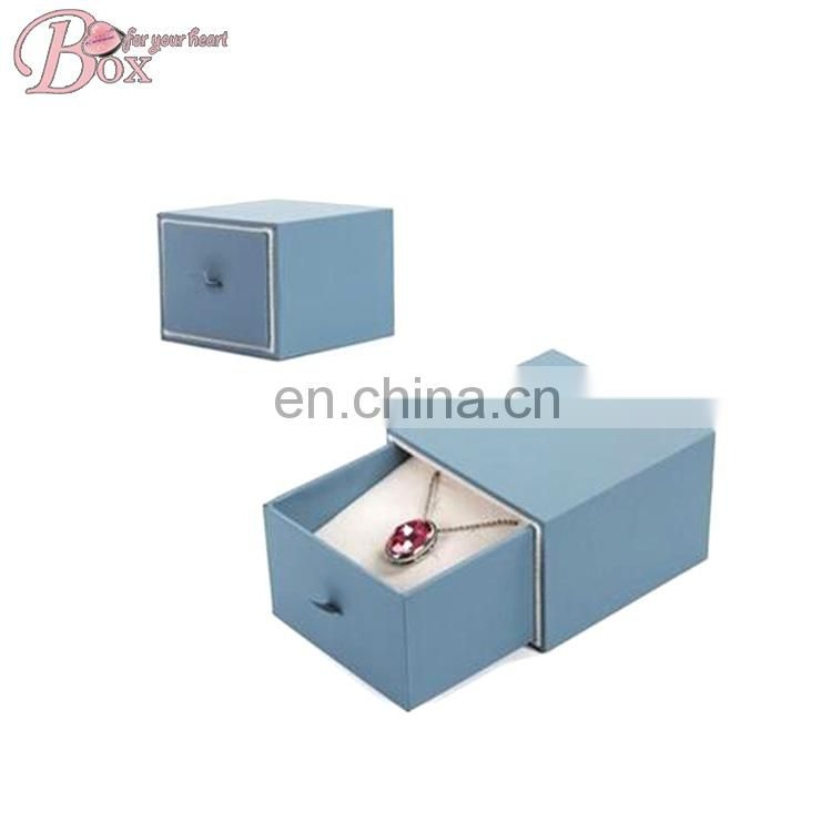 Fashion Cardboard Jewelry Drawer Box Velvet Insert