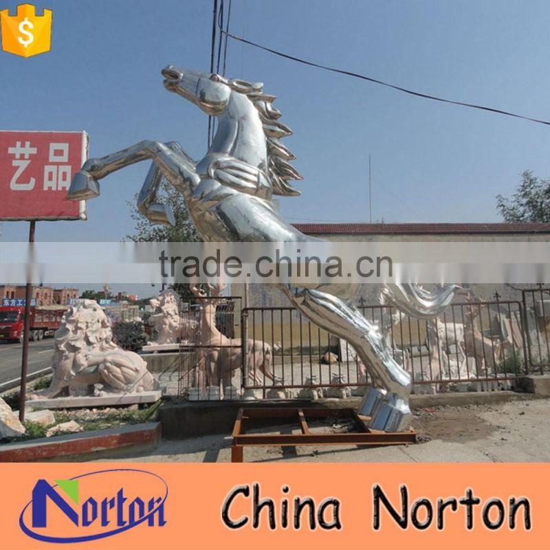 modern decoration stainless steel horse metal sculpture NTS-577X