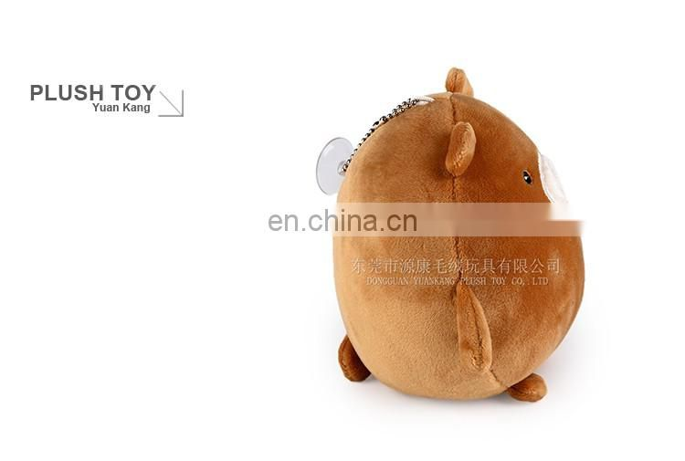 China Sedex audited manufactory custom round fat brown plush bear