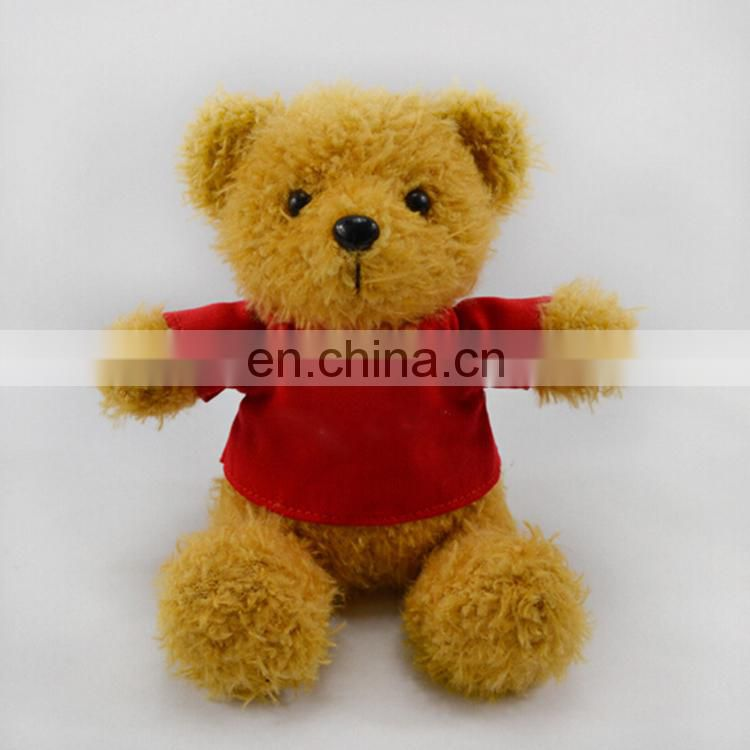 Custom Made Cute Plush Toy Teddy Bear With Shirt