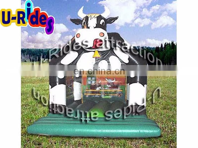 Cow shaped Air bouncer inflatable trampoline Bounce jumping castles Outdoor bounce castle for amusement park