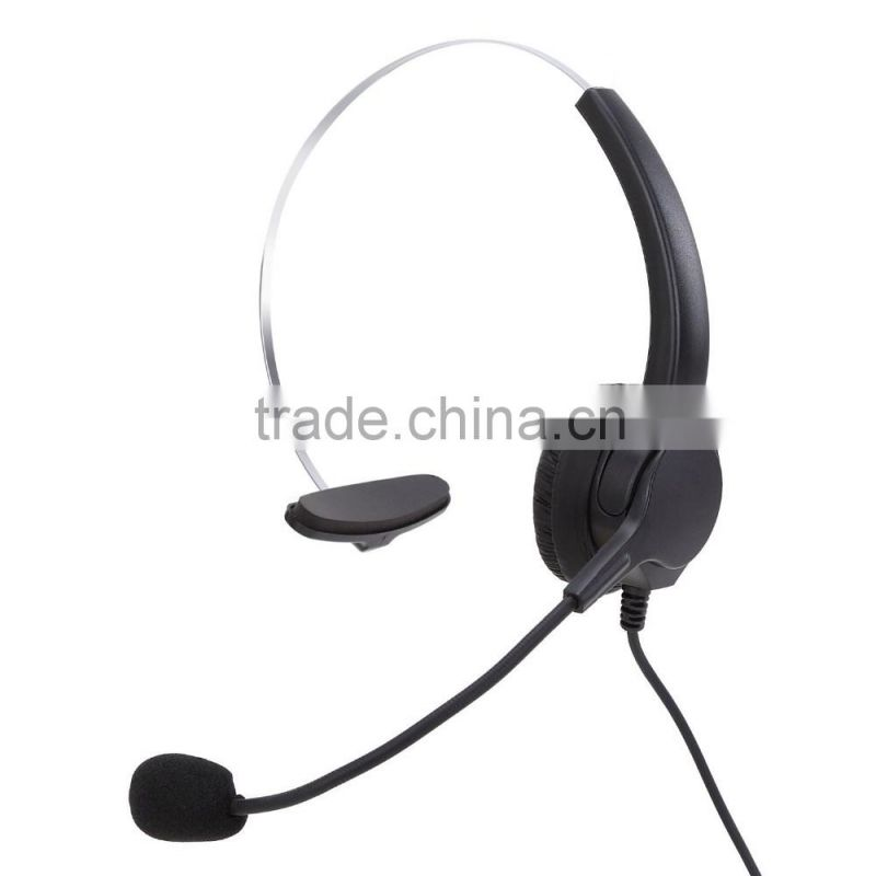 Dial pad Call Center Headset Telephone with noise cancelling headset