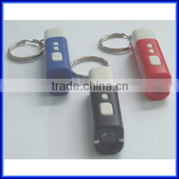 Mini digital led projector keychain clock, portable mini flashlight projector keychain clock
