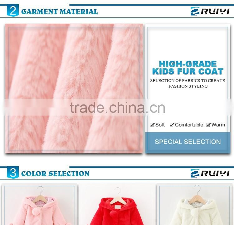 baby clothes wholesale children's clothing faux fur winter outwear coat