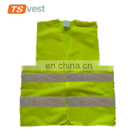 High visibility PVC reflective strips cheap security vest for emergency