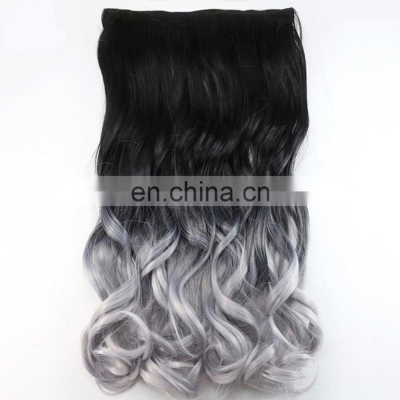 bundle weft Brazilian Remy Virgin human silver hair extensions