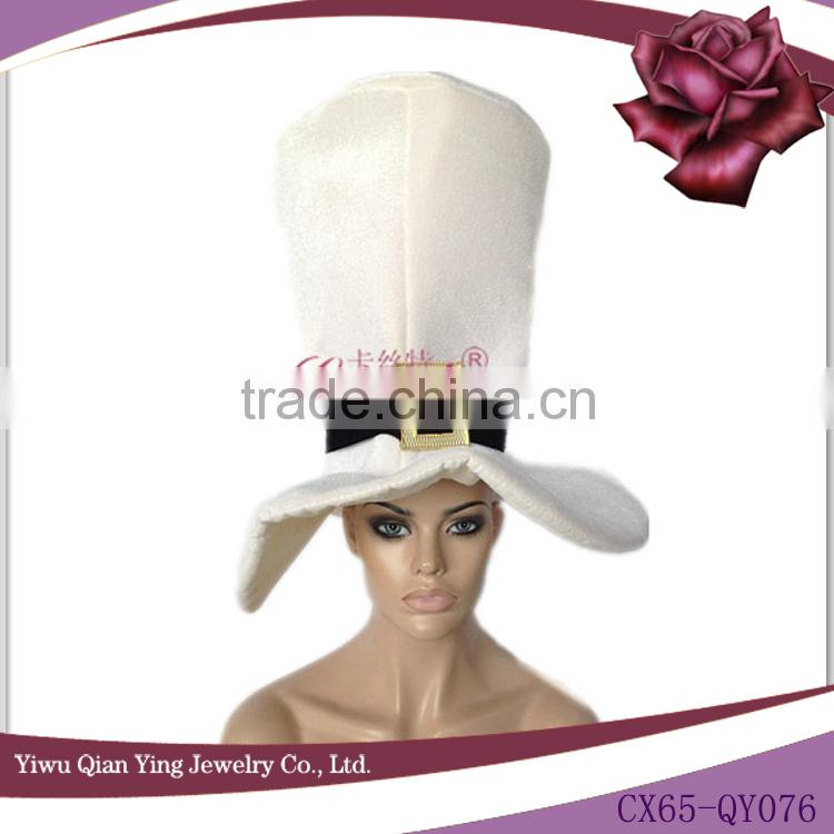 adult fashion big white party bucket hat Image