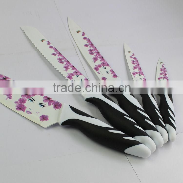 2014 hot selling promotion non-stick kitchen knife set