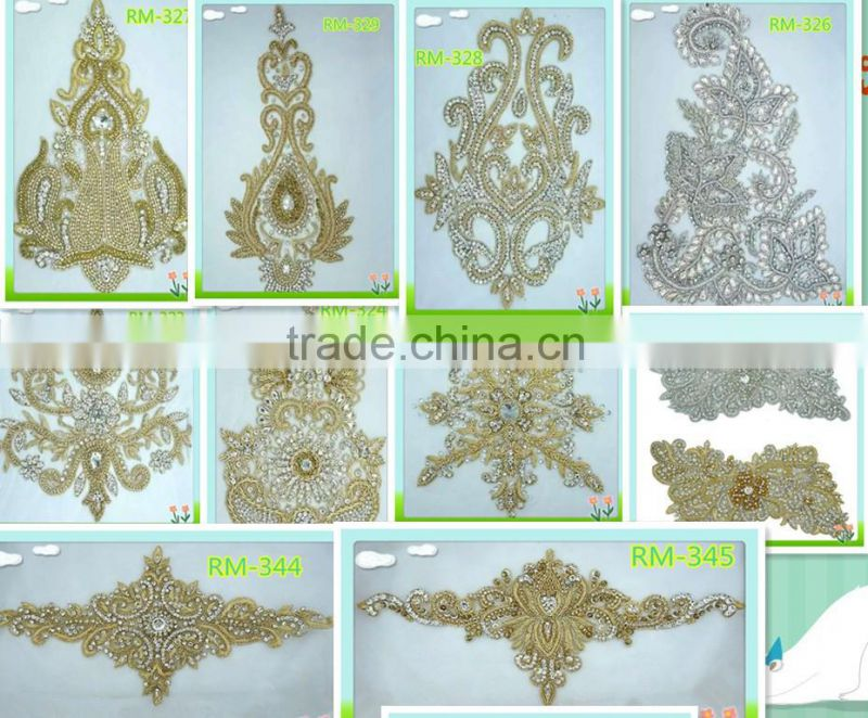 Guangzhou garment accessories and beaded trims for wedding dress