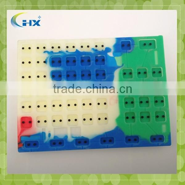 Custom waterproof silicone rubber keypad for electronic equipment