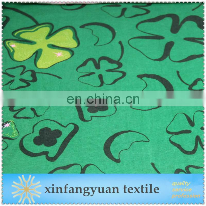 printed cartoon knitted 100% cotton fabric