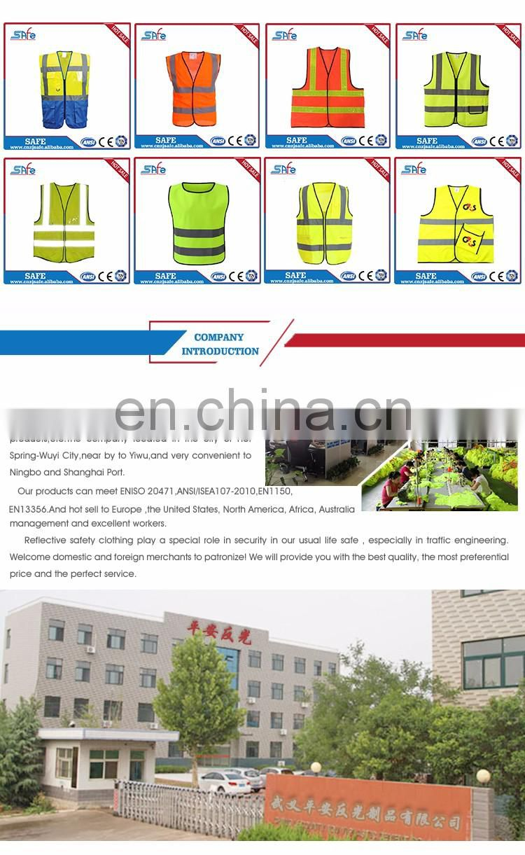 CE safety reflective fabric vest with tape for sale