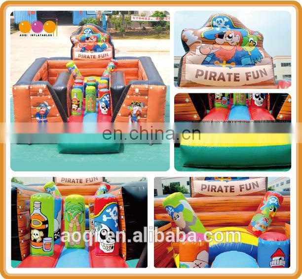 AOQI pirate pop-up inflatable fun city china with free EN14960