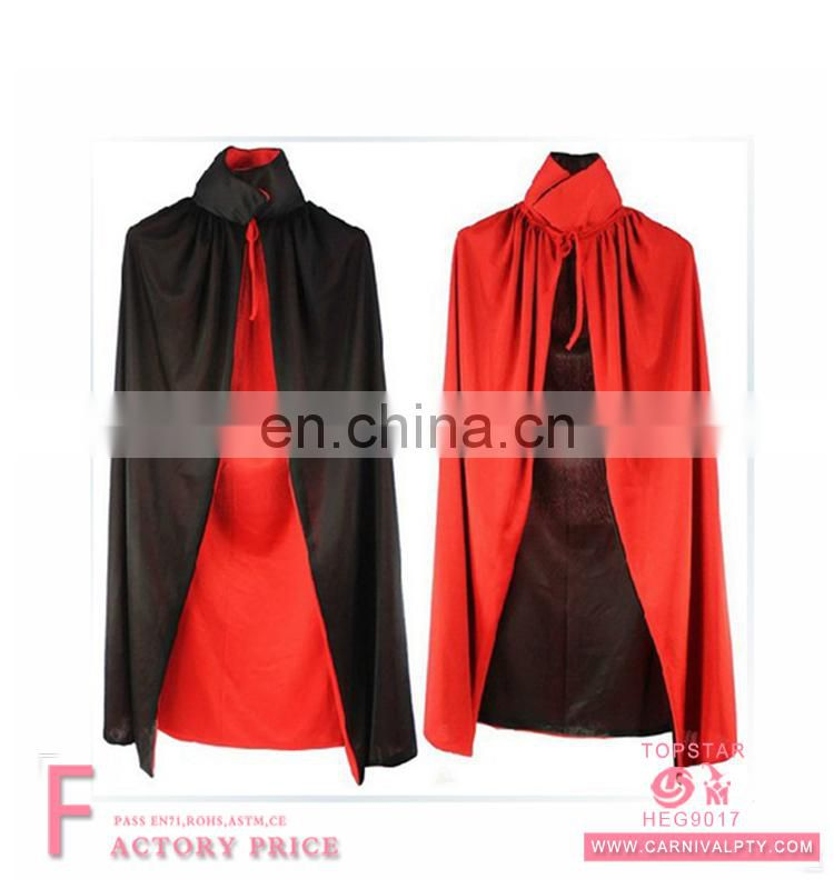halloween Short Hooded polyester women black Cape costume