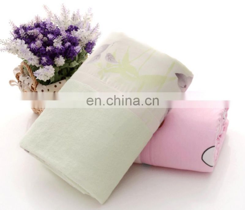 china supplier wholesale custom bamboo fiber towel blanket cotton terry blanket