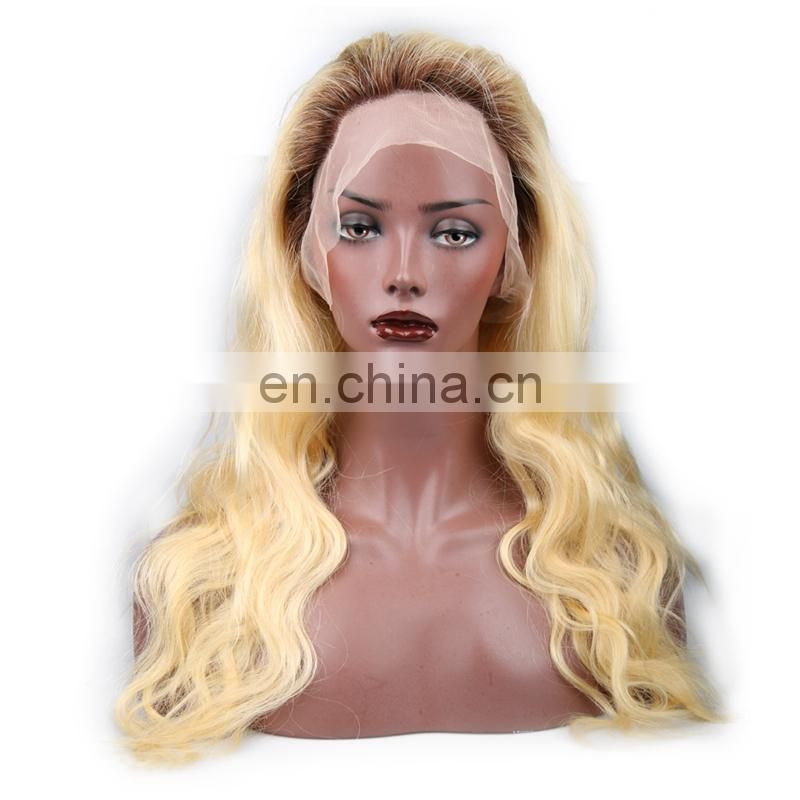2017 Hot New Arrival Fashionable Shining Style 4b/613 Color 100% Virgin Human Hair Full Lace Wig