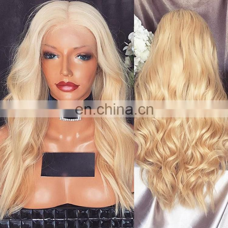 2016 New Virgin Human Hair Blonde Lace Front Wig For White Women
