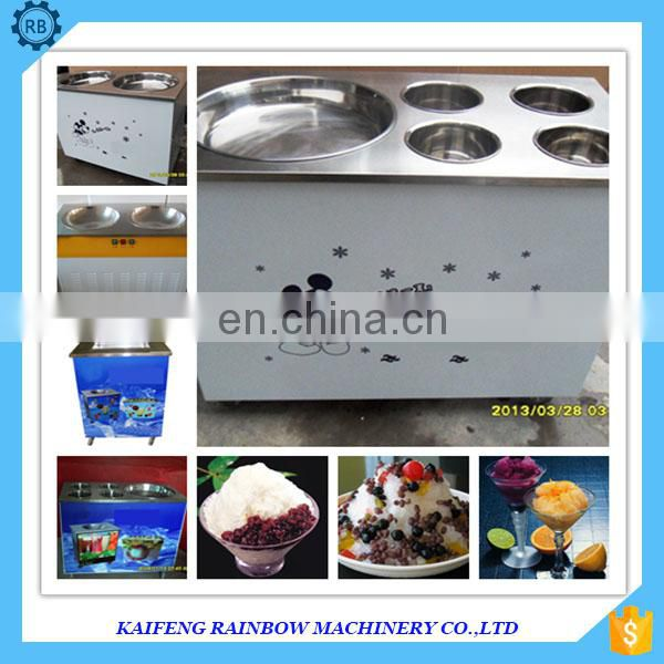 Round Pan Snack Frying Machine Fried Ice Cream Roll Machine Fried Ice Cream Machine Kiosk Price