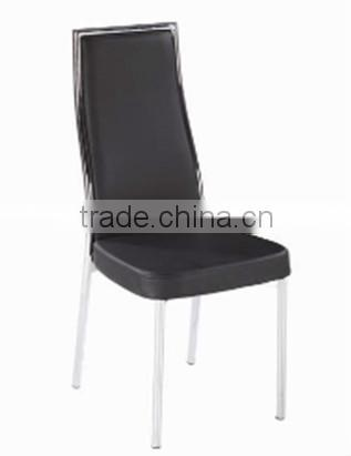 2015 modern dining chair PU, Chromed frame and Leg dining room furniture PDC14807