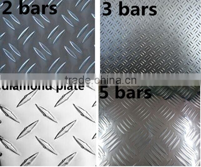 Five bars aluminum 5052 5083 checkered sheet plate / aluminum chequered plate 6mm thick for decoration