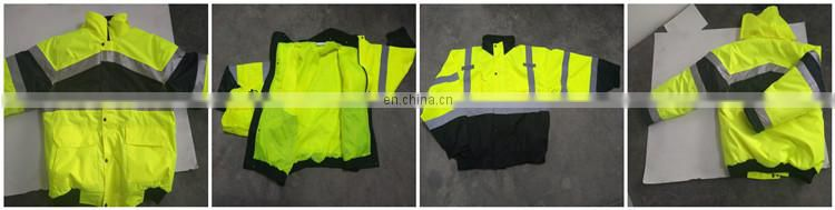 300D Oxford Motorbike Fleece Reflective Jacket Logo Customized
