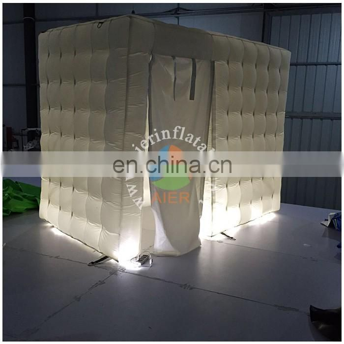 Luxury inflatable booth inflatabe mini tent,led inflatable photo booth