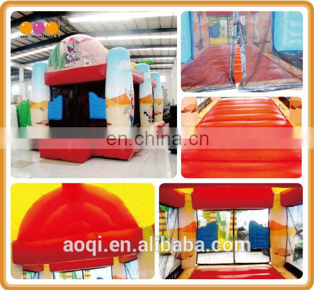 AOQI amusement park equipment outdoor inflatable gun shooting game funny team gun shooting game for adults
