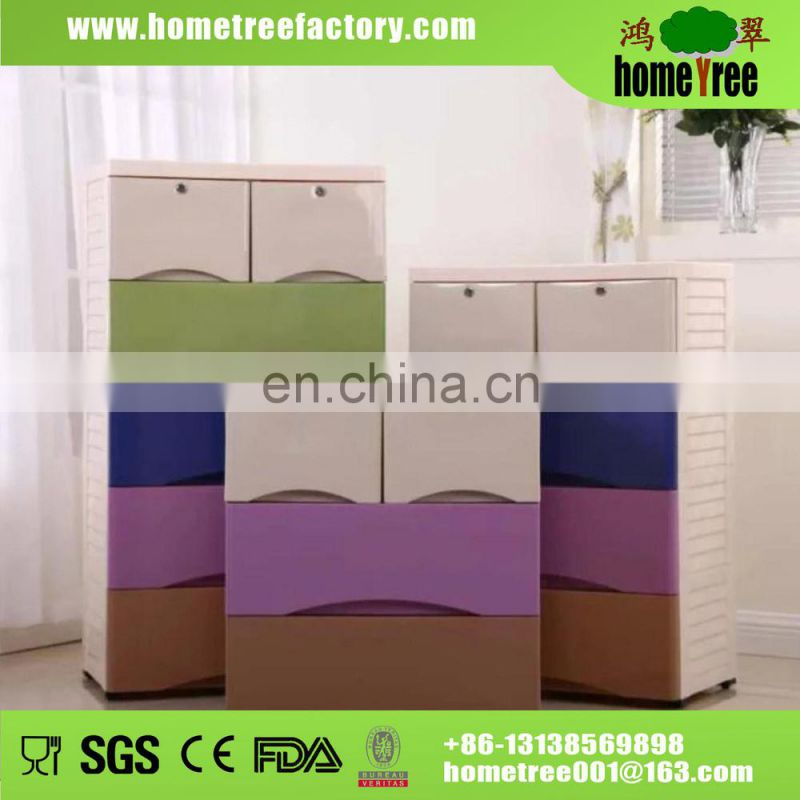 Simple Design 5 Layers Waterproof Storage Clothing Wall Cabinets For Books