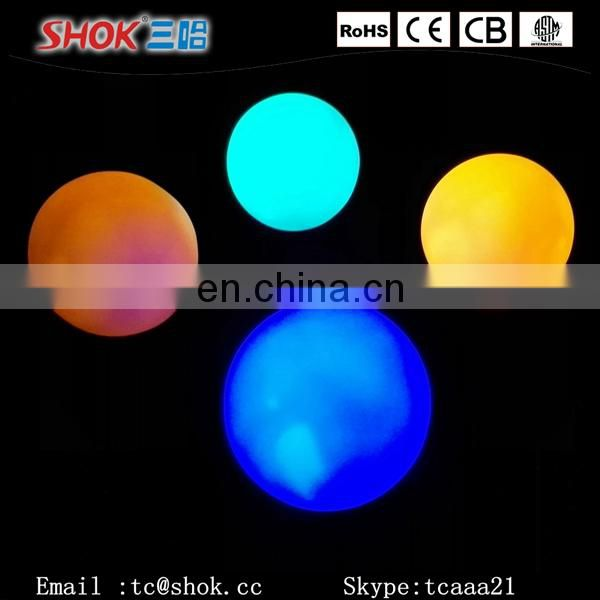 Color changing led snowball lights moon shape led night light
