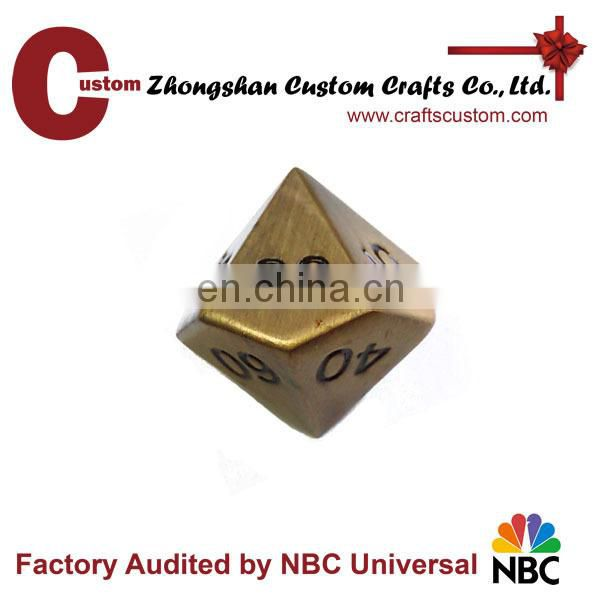 Wholesale cheap 20 sides metal dice different colored