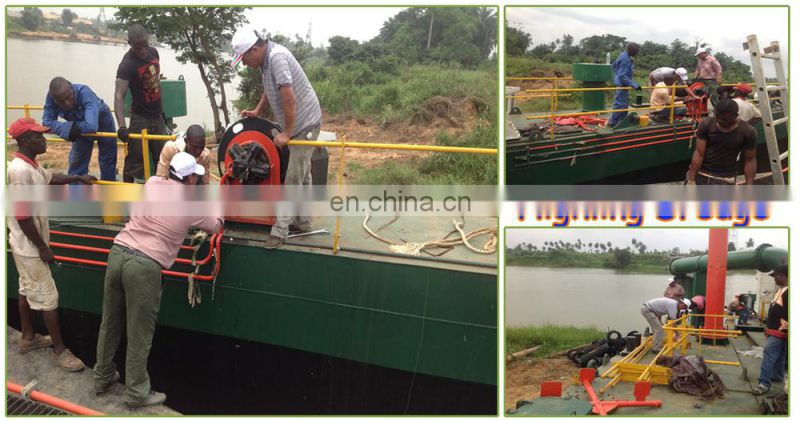 550 cbm/h highling cutte suction dredger sale with depth 7.3 m