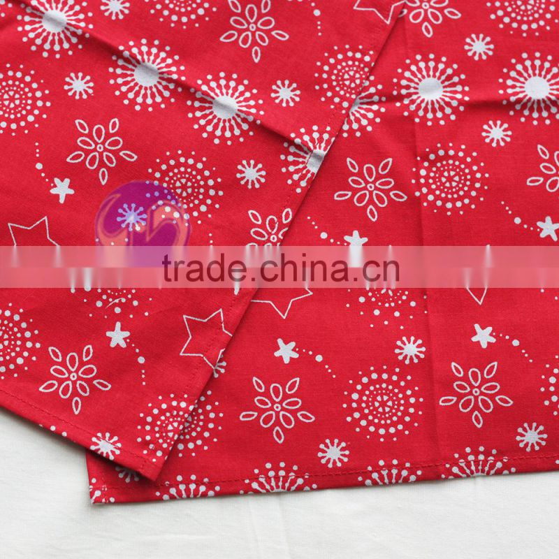 cheap cocktail napkins and red custome printed cotton table napkin