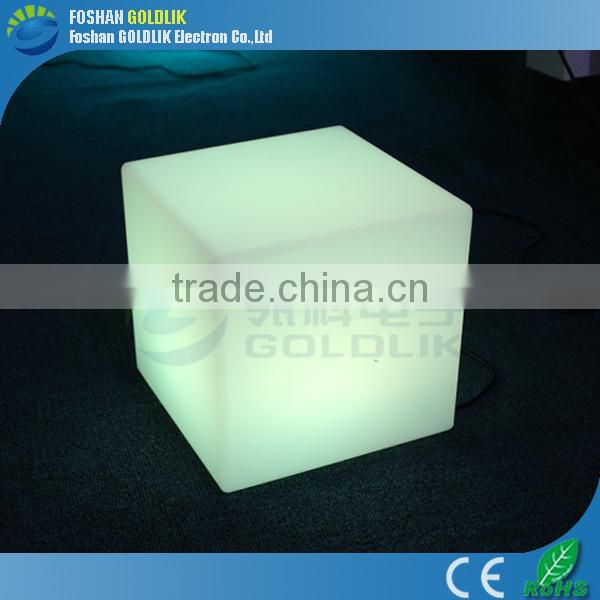 LED Cube / Morden Cube Chair with sizes 20/30/40/43/50/60cm