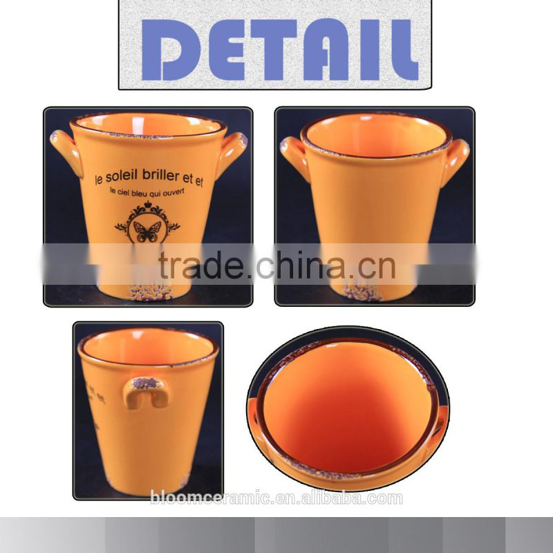 Popular shape unique ceramic pot,garden plant,cheap flower pot
