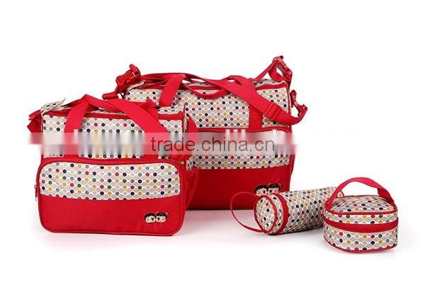 Newest Desgin Brown 5pcs Multi-Function Baby changing bag