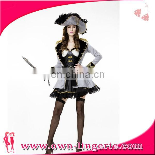 Women Adult Sexy Funny Miss Jack Captain High Quality Pirate Carnival Cosplay costumes