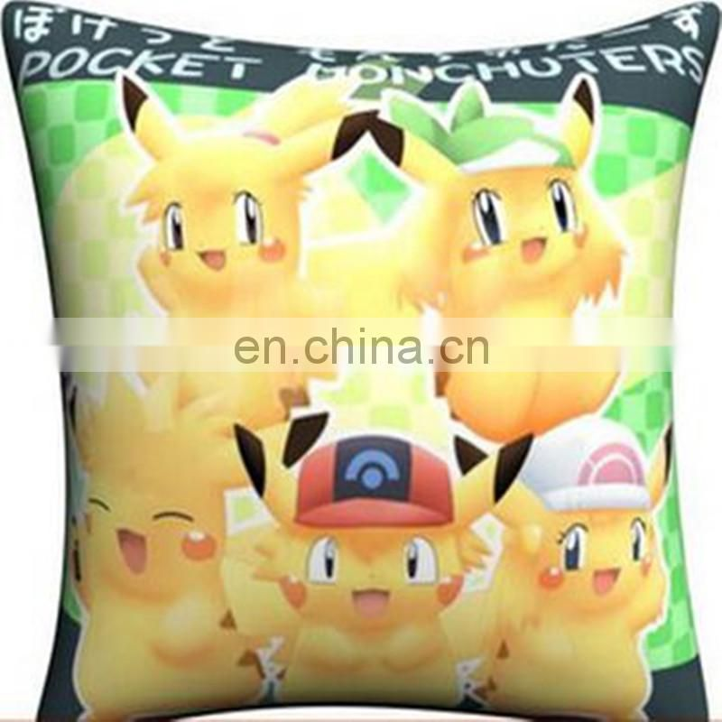 Cartoon Pikachu pillow pokemon figure toy .Pikachu mascot plush toy birthday gift