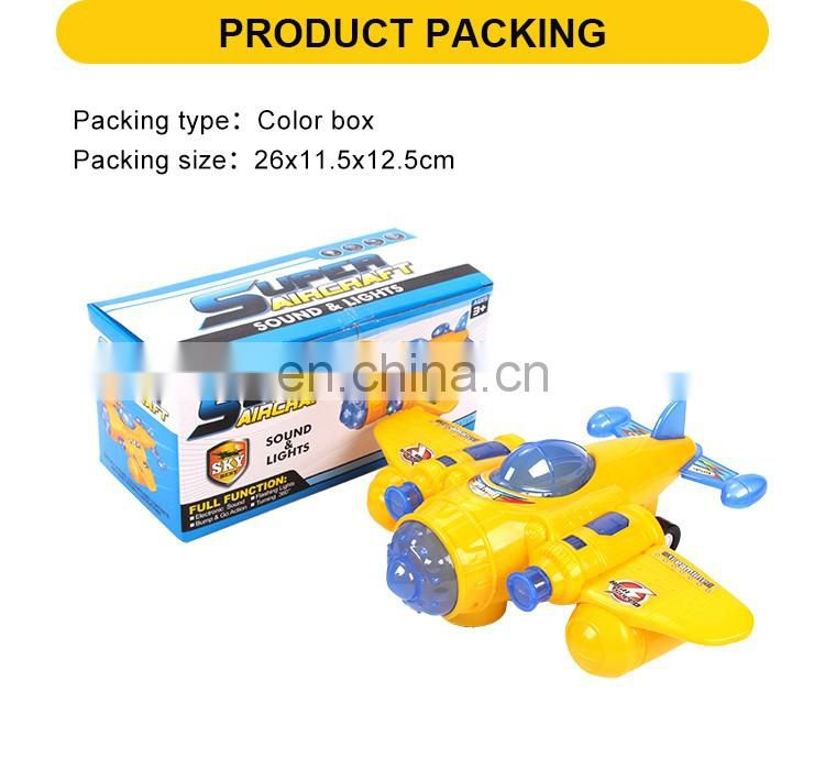Battery operated cartoon plastic helicopter plane toys