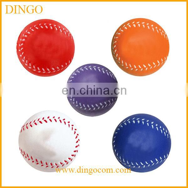 high quality printed baseball shape stress ball