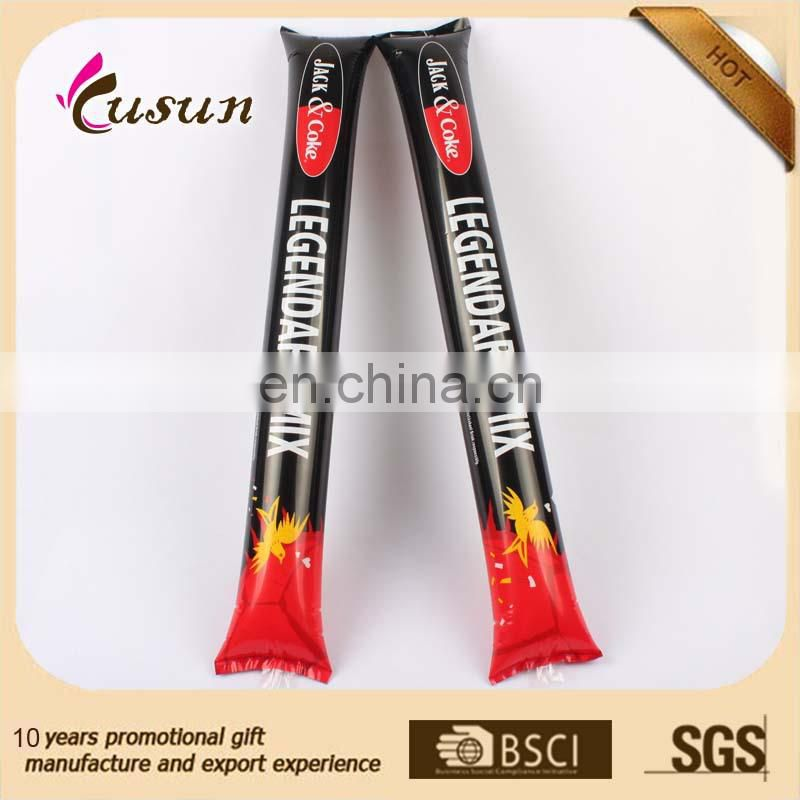 eco printed PE inflatable thunder stick cheap wholesales manufacturer