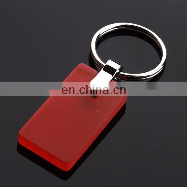 PRINT LOGO CUSTOM SQUARE RUBBER KEYCHAIN WHOLESALE