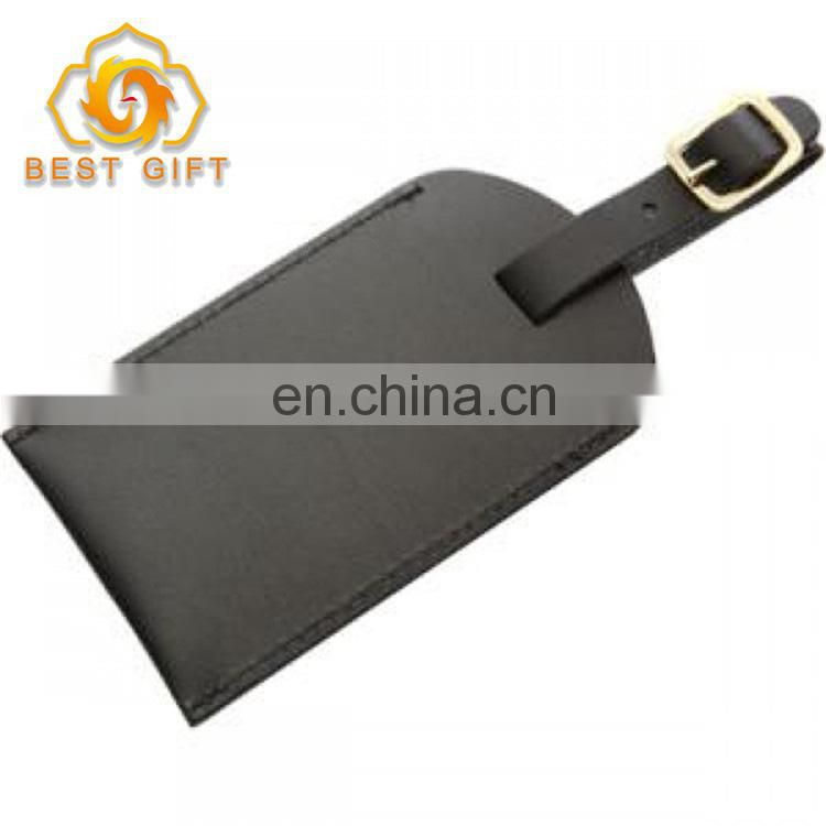 High Quality Yellow Leather Luggage Tag