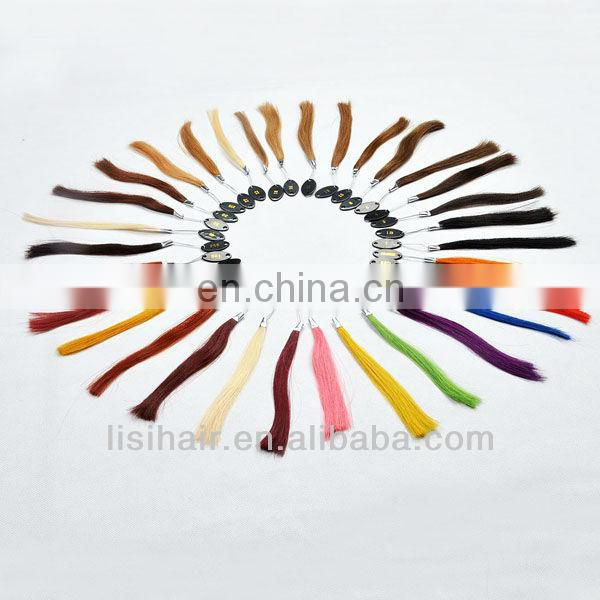 Big Sale!!direct factory indian human hair color ring color chart