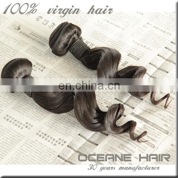 Hot selling unprocessed high quality raw unprocessed virgin malaysian loose wave hair