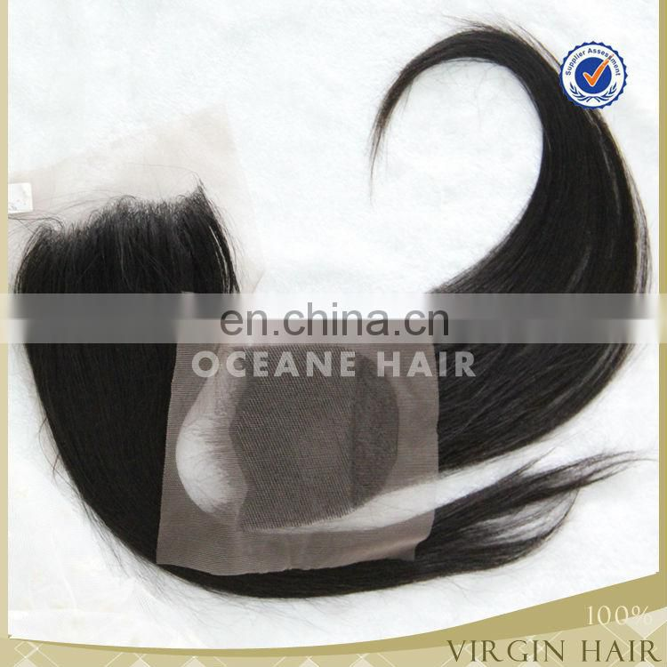 2016 new hot sale full cuticle different textures can be dyed soft thick virgin closure brazilian hair