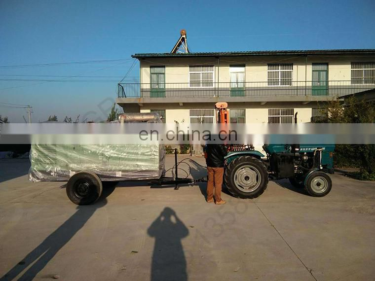 Tractor mounted rock pneumatic water well drilling machine