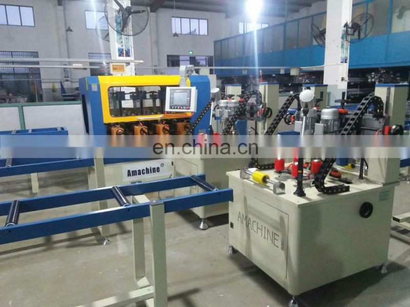 Automatic Knurling and strip insertion machine for aluminum profile