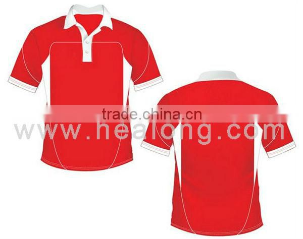 2013 New Style Custom Polo Cricket Jersey Design