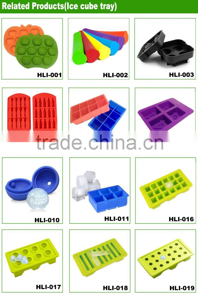 4 Colors For Choose Ball Tray Brick Round Mold Sphere Bar Party Mould Silicon Whiskey Ice Cube Maker